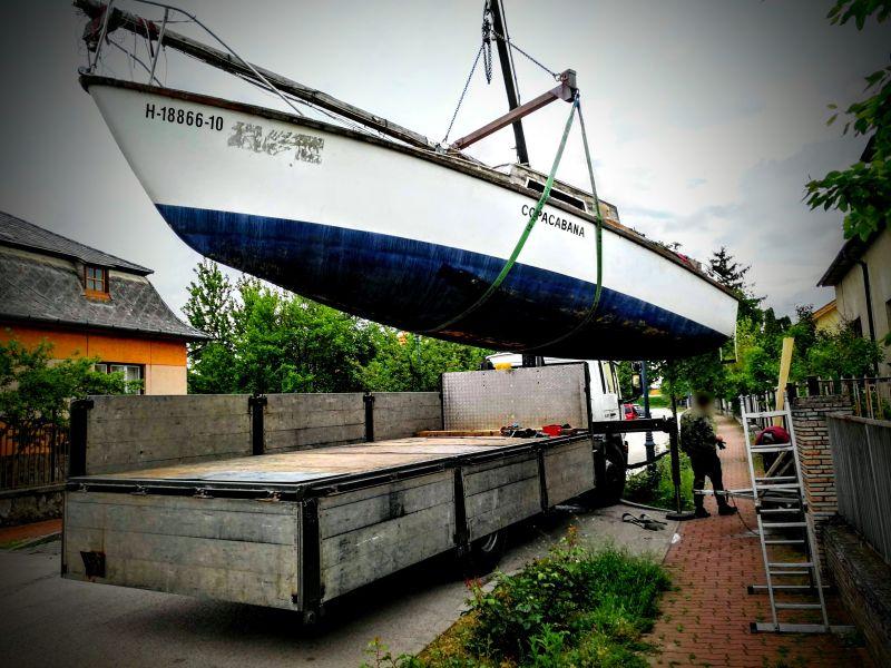 Hajó daruzás emelőgerendával